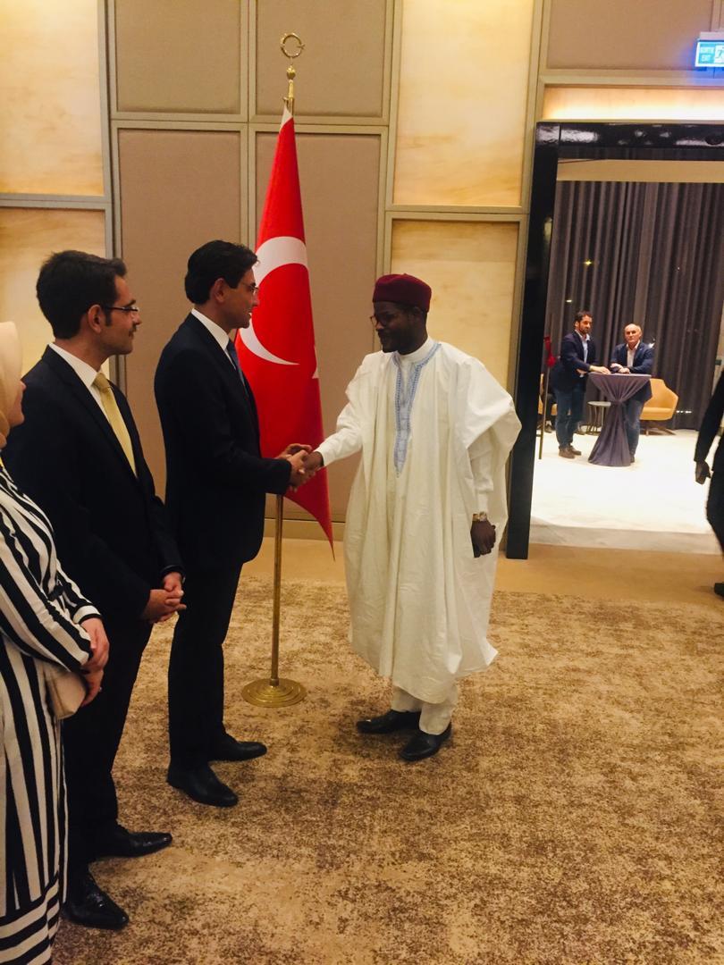 Le Président du parti invité à la réception du 96ème anniversaire de proclamation de la République turque