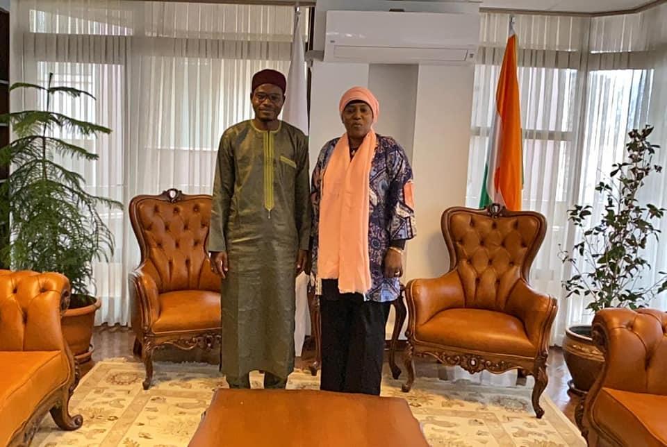 Le Président a effectué une visite de courtoisie à S.E.M Salou Adama Gazibo, Ambassadrice du Niger en Turquie.